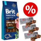 Duże opakowanie Brit Premium by Nature +  3 x Alpha Spirit kość z szynki serrano w super cenie!
