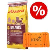 Duże opakowanie Josera Adult, 15 kg  + KING Kocyk Kingsday, pomarańczowy w super cenie!
