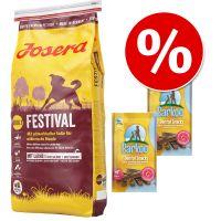 Duże opakowanie Josera Adult, 15 kg  + 2 x Barkoo Dental Snacks w super cenie!
