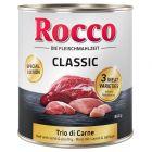 Edição especial: Rocco Classic Trio di Carne para cães