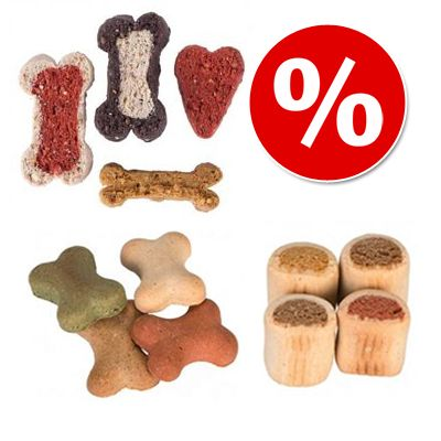 Edulliseen pakettihintaan: 1 kg DogMio Nuggets & 1 kg Bonies & 500 g Barkis