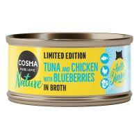 Edycja letnia Cosma Nature, tuńczyk z kurczakiem i borówką