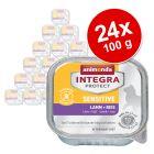 Ekonomično pakiranje: Animonda Integra Protect Adult Sensitive - zdjelice 24 x 100 g