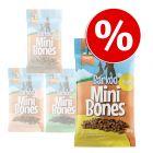 Ekonomično pakiranje Barkoo Mini Bones (poluvlažne grickalice) 4 x 200 g
