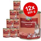 Ekonomično pakiranje Grau Gourmet bez žitarica 12 x 800 g