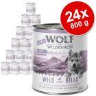 Ekonomično pakiranje Little Wolf of Wilderness 24 x 800 g