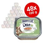 Ekonomipack: Happy Cat Duo - Bitar med paté 48 x 100 g