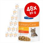 Ekonomipack: Hill's Prescription Diet Feline 48 x 85 g portionspåsar