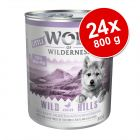 Ekonomipack: Little Wolf of Wilderness 24 x 800 g