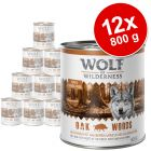 Ekonomipack: Wolf of Wilderness 12 x 800 g
