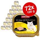 Ekonomipack: Animonda vom Feinsten för kastrerade katter 72 x 100 g