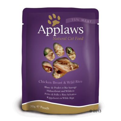 Ekonomipack: Applaws Cat Pouches kattmat 48 x 70 g