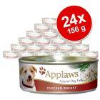 Ekonomipack: Applaws hundfoder i buljong 24 x 156 g