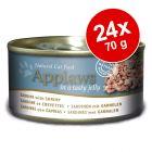 Ekonomipack: Applaws i gelé kattfoder 24 x 70 g