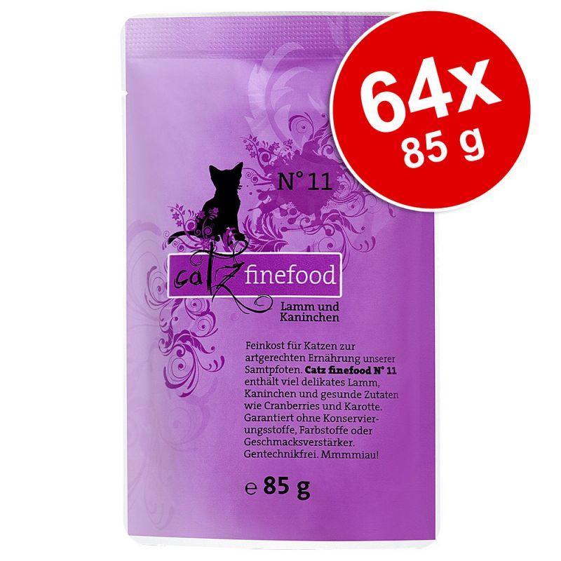 Ekonomipack: catz finefood portionspåse 64 x 85 g