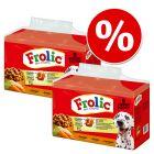 Ekonomipack: 2 förpackningar Frolic hundfoder till lågpris