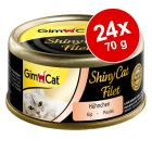 Ekonomipack: GimCat ShinyCat Filet 24 x 70 g