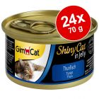 Ekonomipack: GimCat ShinyCat Jelly 24 x 70 g