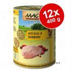 Ekonomipack: MAC's Cat kattfoder 12 x 400 g
