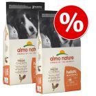 Ekonomipack: 2 / 3 påsar Almo Holistic Nature hundfoder