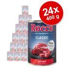 Ekonomipack: Rocco Classic 24 x 400 g hundfoder