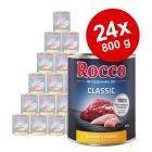 Ekonomipack: Rocco Classic 24 x 800 g hundfoder