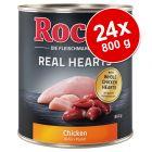 Ekonomipack: Rocco Real Hearts 24 x 800 g