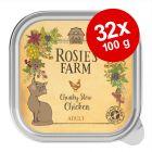 Ekonomipack: Rosie's Farm Adult 32 x 100 g