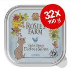 Ekonomipack: Rosie's Farm Senior 32 x 100 g
