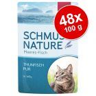 Ekonomipack: Schmusy Nature Fish 48 x 100 g
