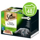 Ekonomipack: Sheba 48 x 85 g portionsform i blandpack