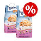 Ekonomipack: Tigerino Nuggies kattströ - babypuder, grova korn