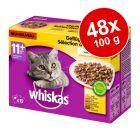 Ekonomipack: Whiskas 11+ portionspåse 48 x 100 g