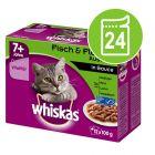 Ekonomipack: Whiskas Senior 7+ portionspåse 24 x 85 / 100 g
