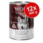 Ekonomipack: Wolf of Wilderness The Taste Of 12 x 400 g