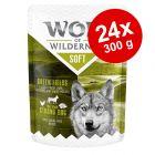 "Ekonomipack: 24 x 300 g Wolf of Wilderness ""Soft & Strong"""