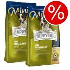 Ekonomipack: 2 x 4 kg Happy Dog Supreme mini till sparpris!