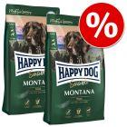 Ekonomipack: 2 x 7,5 / 10 / 12,5 kg Happy Dog torrfoder till lågt pris!