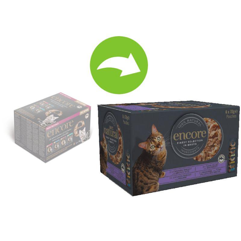 Encore Cat Pouch Multipack 6 x 70g