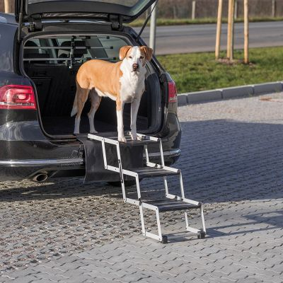 Escalera plegable Trixie Friends on Tour de aluminio para perros