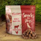 Et pour les petites faims : friandises Purizon bœuf, poulet - sans céréales pour chien