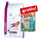 Eukanuba Breed Specific  Hrană uscată + 8in1 Snacks gratis!