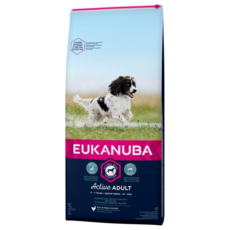 Eukanuba Active Adult razas medianas con pollo