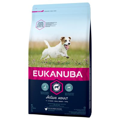 Eukanuba Active Adult Small Breed com frango