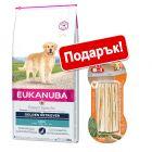 Eukanuba Adult Breed + 8in1 Delights подарък!