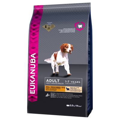 Eukanuba Adult Small / Medium Breed agneau, riz pour chien