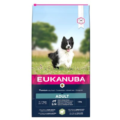 Eukanuba Adult Small & Medium Breed Lam & Ris
