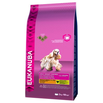 Eukanuba Adult Weight Control Medium Breed poulet pour chien