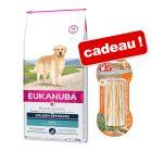 Eukanuba Breed Specific 2 à 12 kg + 3 bâtonnets 8in1 Delights offerts !
