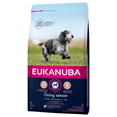 Eukanuba Caring Senior Medium Breed  - Kylling